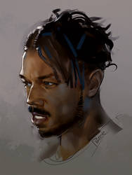 Michael Bakari Jordan by superschool48