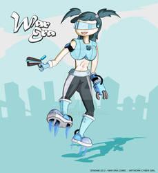 Cyber-Girl Artwork - War Era comic