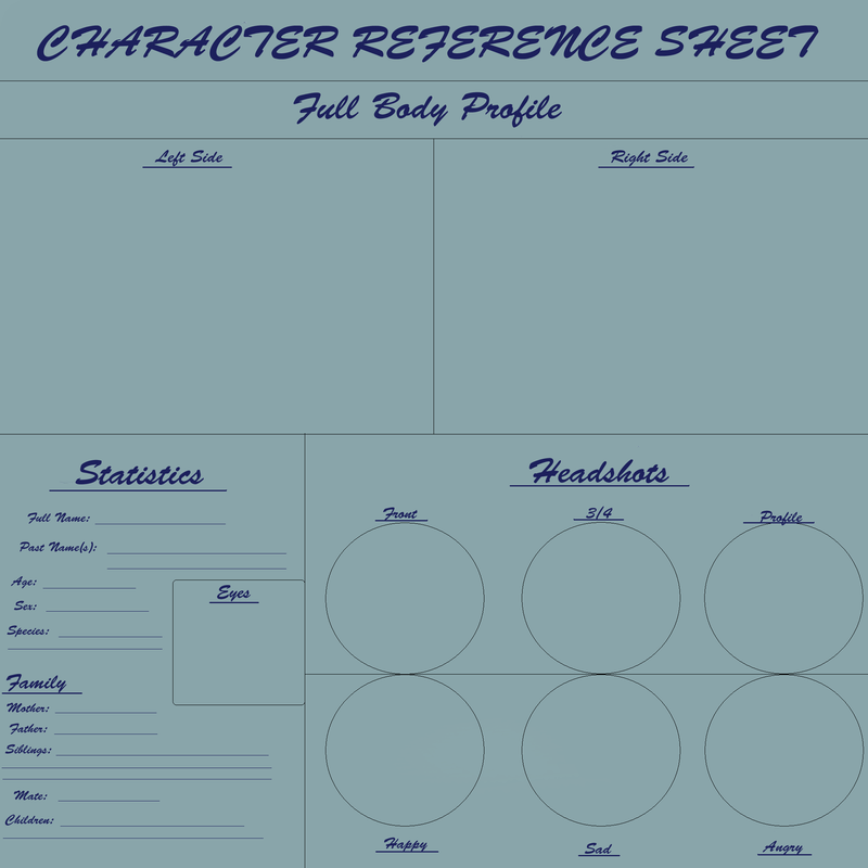 Blank Character Reference Sheet By RainstarKitty ...  Blank Reference Sheet