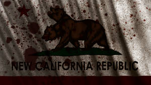 Fallout: New California Republic Flag Wallpaper by Birdie94jb