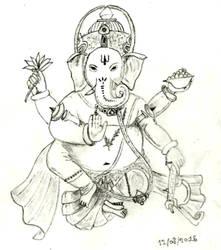 Lord Ganesha by MaelikR