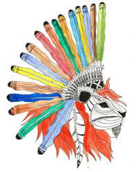 Lion Art by MaelikR
