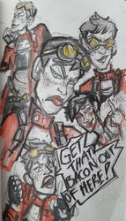 GET THAT BACON OUT OF HERE: A Tannis sketch page