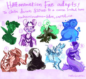 [Charity Adoptables] Fae Adopts Batch 1 [OPEN]