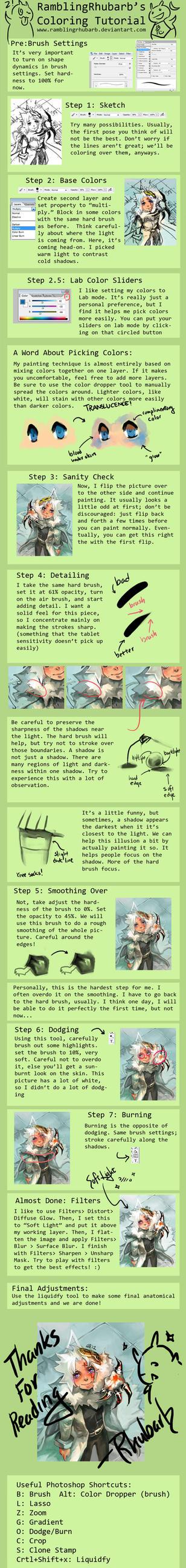 Anime Realism Hard Brush Digital Painting Tutorial by RamblingRhubarb