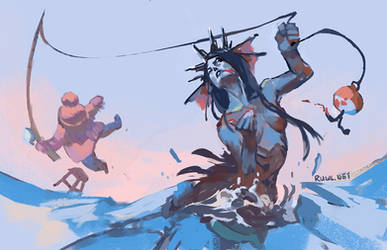 Ice fishing [60/365] by RamblingRhubarb