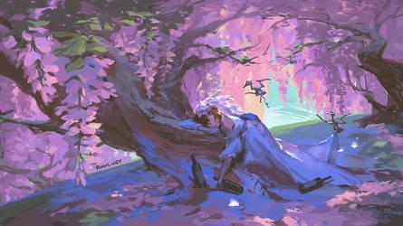 A rose underneath the wisteria [199/365]