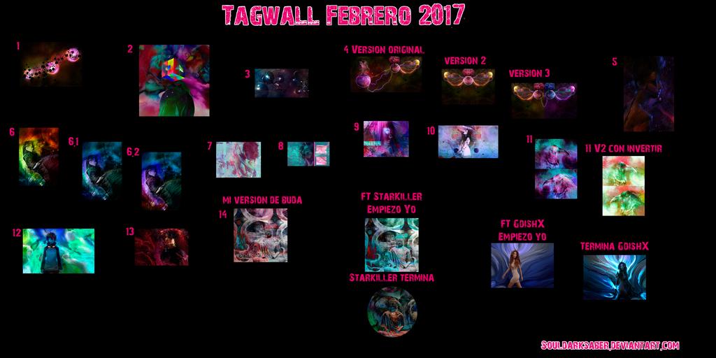 Tagwall Febrero 2017 by SoulDarkSaber