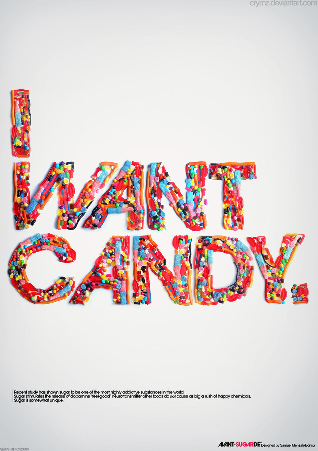 Experimental Typography Candy by crymz