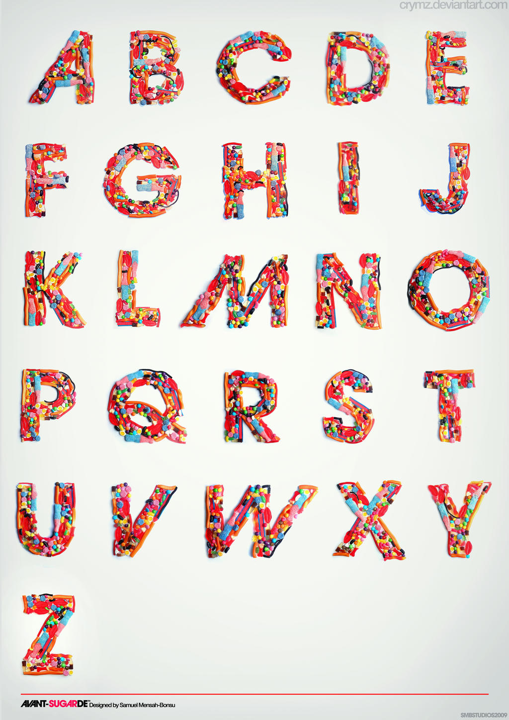 Typography Candy Alphabet by crymz
