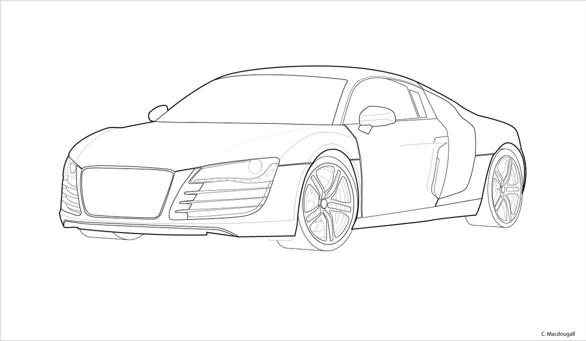 Audi R8 Outline By Stratis303 On Deviantart