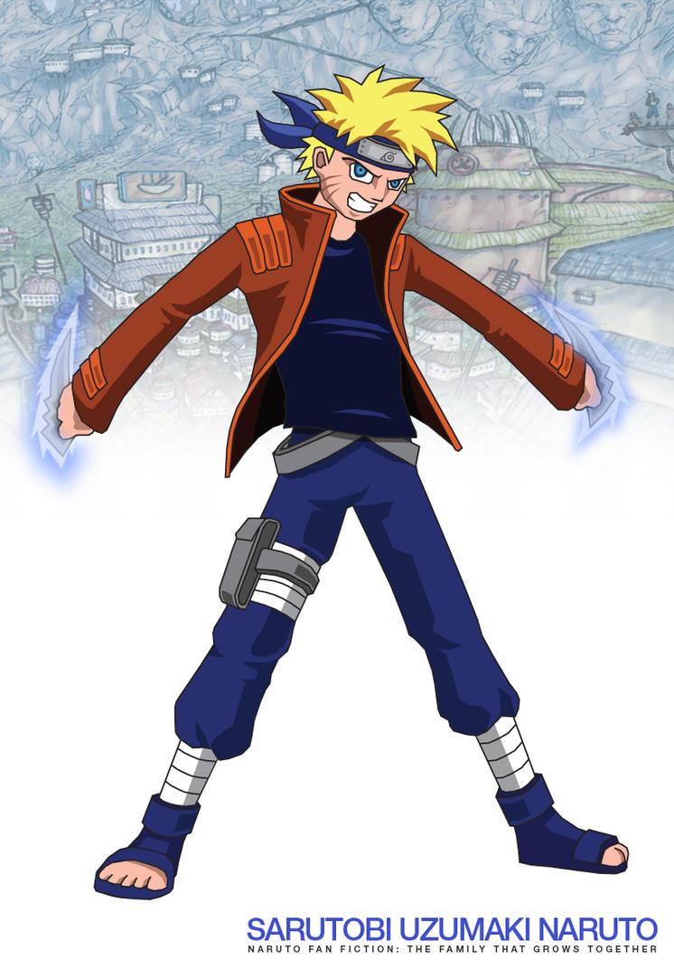 Sarutobi Uzumaki Naruto by Jarein