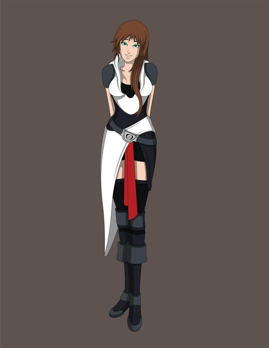 Naruto/ACreed Fanfic OC- Akiko Suzuki by Jarein