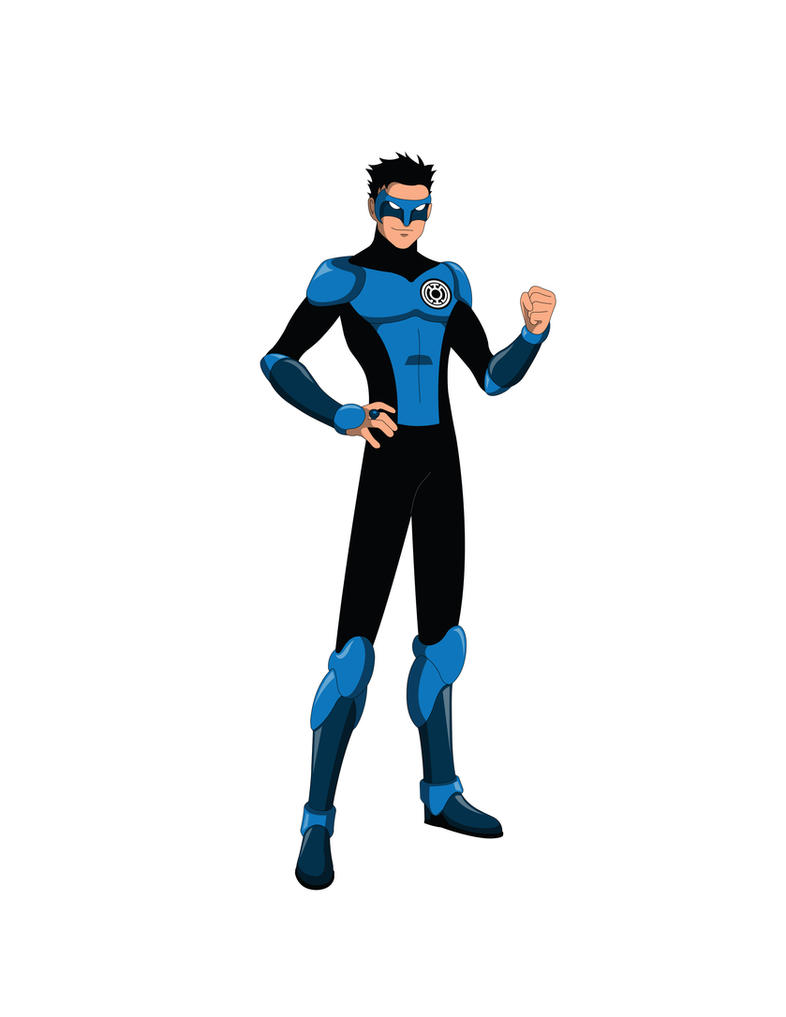 Young Justice TV - Kyle Rayner Blue Lantern by Jarein