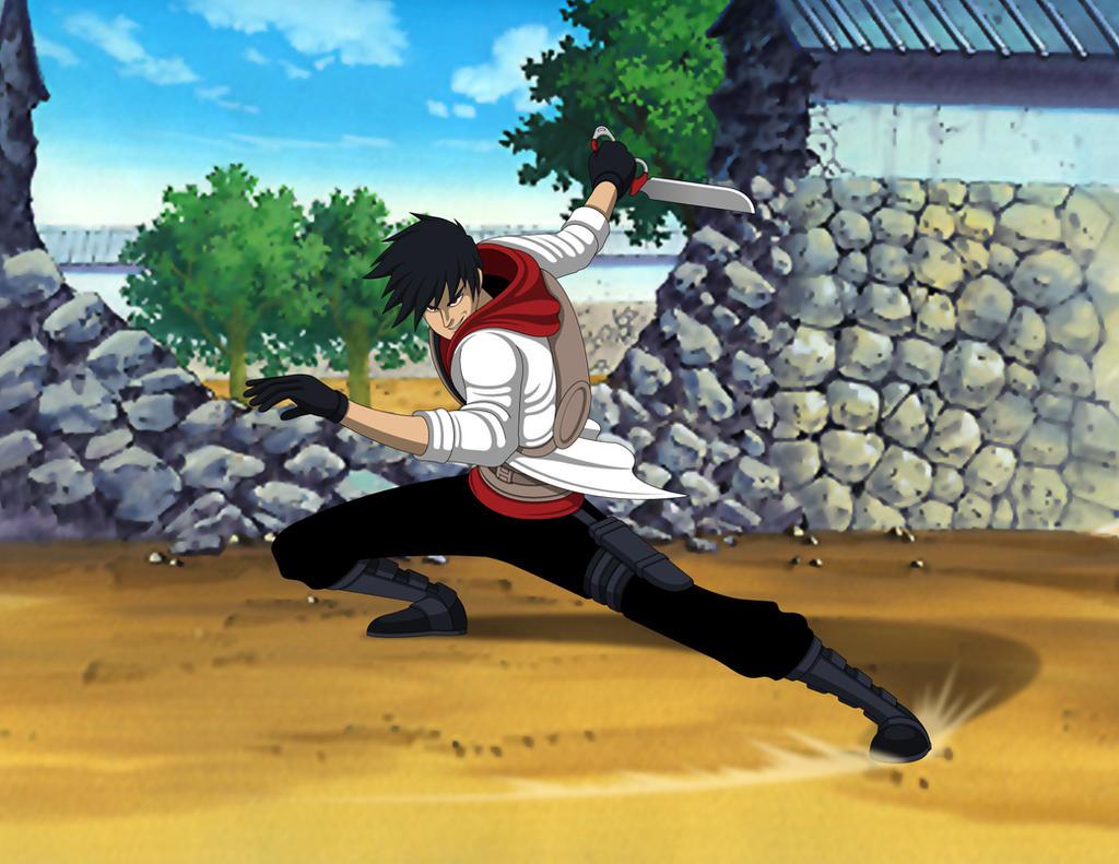 Naruto OC - Sarutobi Juushiro - Action Sequence by Jarein