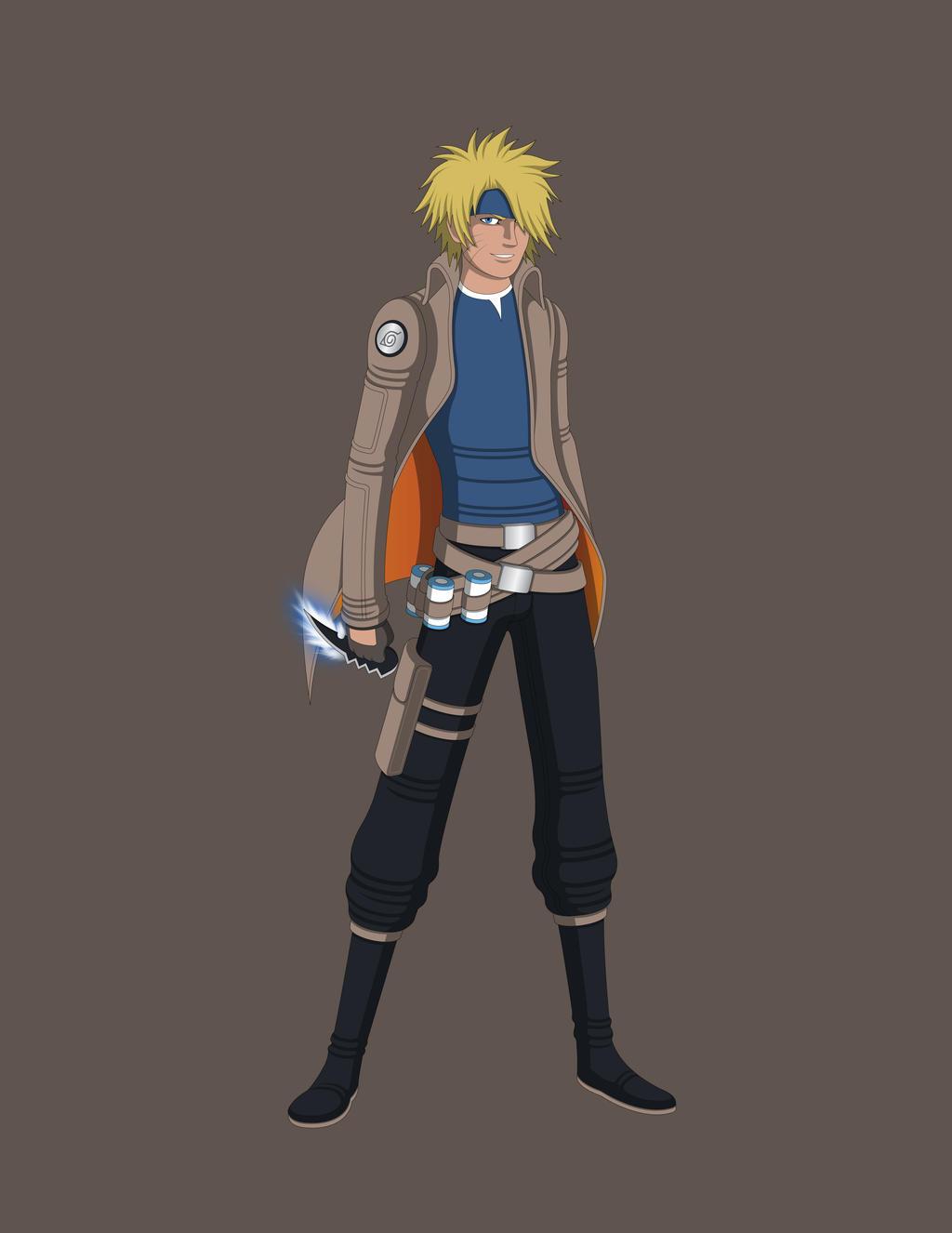Naruto AU Design - Sarutobi Naruto by Jarein