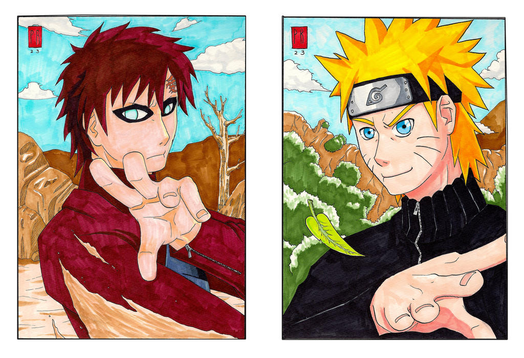 COPIC Gaara COPIC Naruto by Reabault