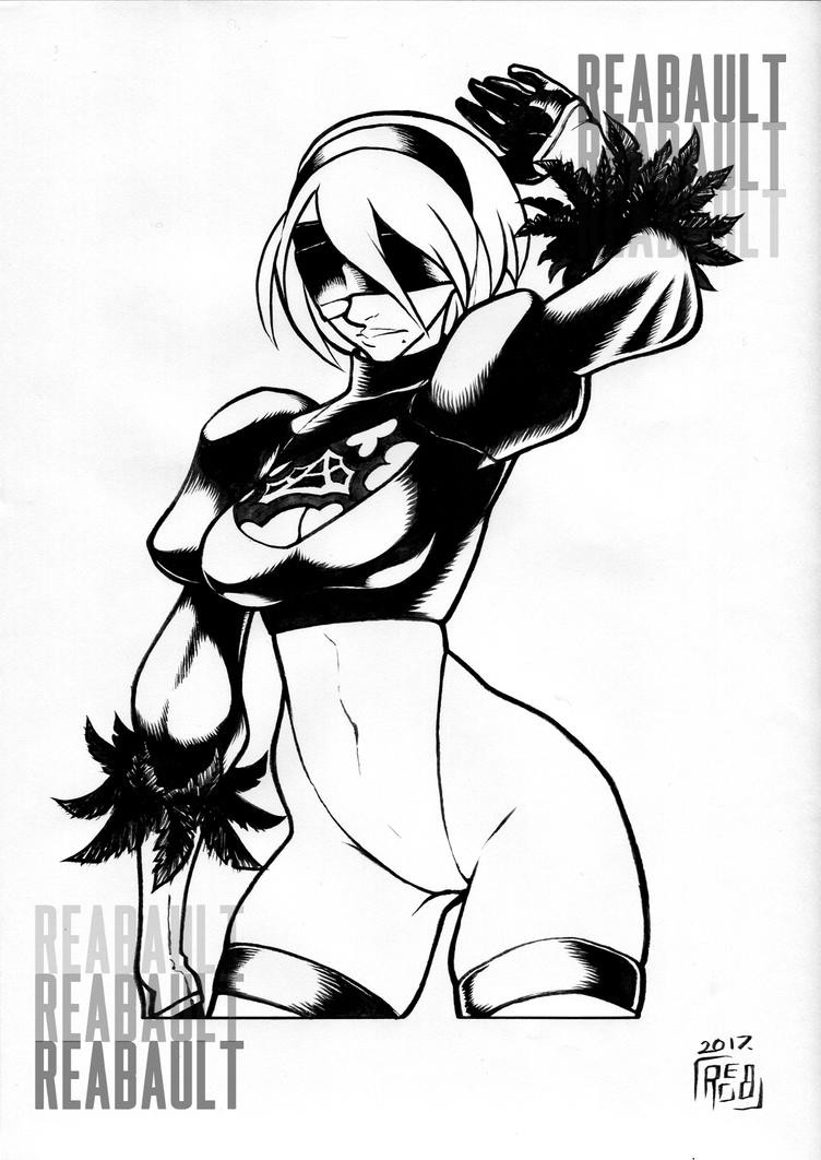 2B Ink Commission by Reabault