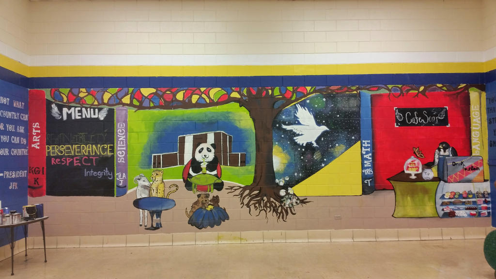 Frazier elementary school mural by agualohaley on deviantart for Elementary school mural