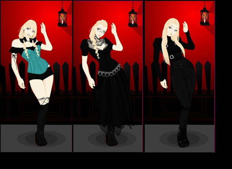 Gothic style dress up games