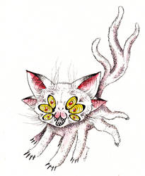 Creepy LSD Cat