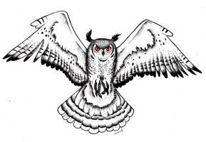Black Metal Owl 2