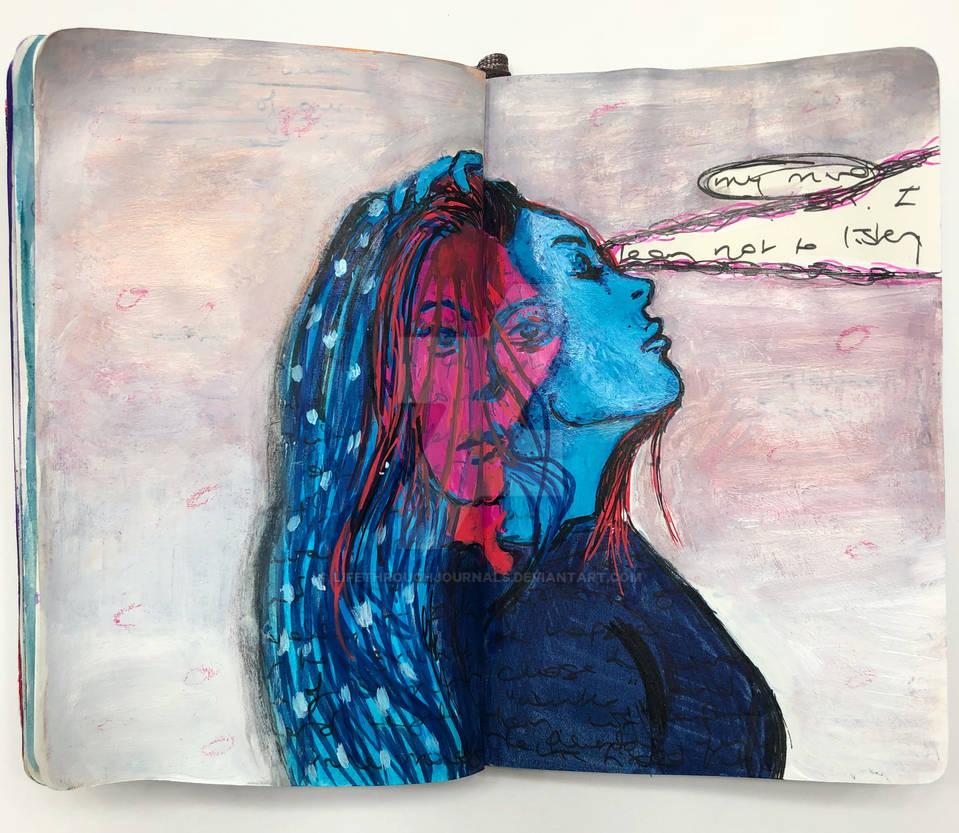 Art journal page, September 2018