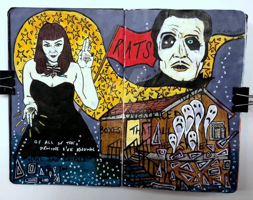 Art journal page, August 2018
