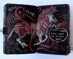 Art journal page, July 2017