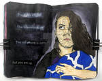 Art journal page, July 2020