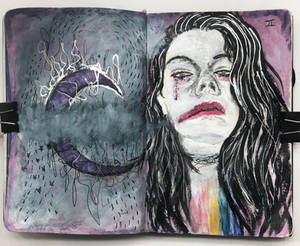 Art journal page, April 2019