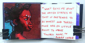 Art journal page, June 2020