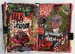 Art journal page, April 2016