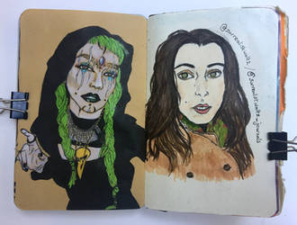 Art journal page, October and June 2017