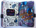 Art journal page, August 2017