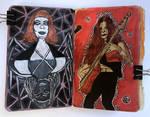 Art journal page, November and September 2017