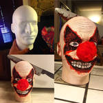Scary clown head, October 2015