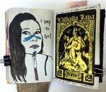 Art journal page, December 2017