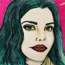 Commissioned post-it portrait, January 2021