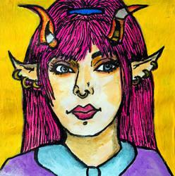 Commissioned post-it portrait (OC), January 2021