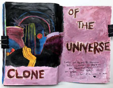 Art journal page, July 2018