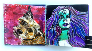 Art journal page, March 2017