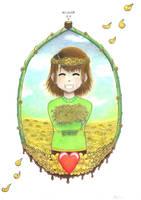 Chara with golden flowers by NEKKIU