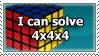 i can solve 4x4x4 rubik's cube by sergbel