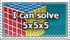 i can solve 5x5x5 rubik's cube by sergbel
