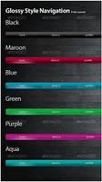 6 Glossy styled Navigations by Scyllastudio