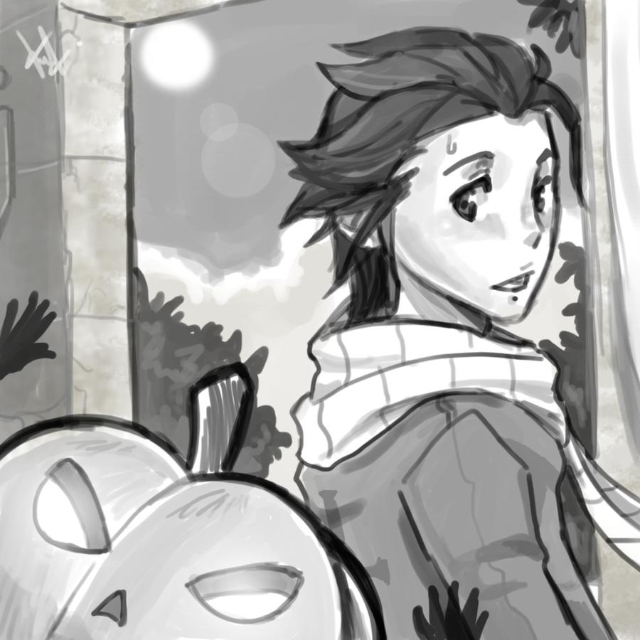 Stalker Pumpkin Head by FelipeNero