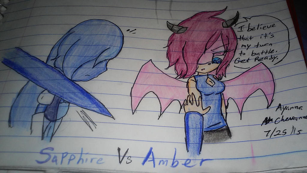 Sapphire vs Amber- Approach by supershadnic899