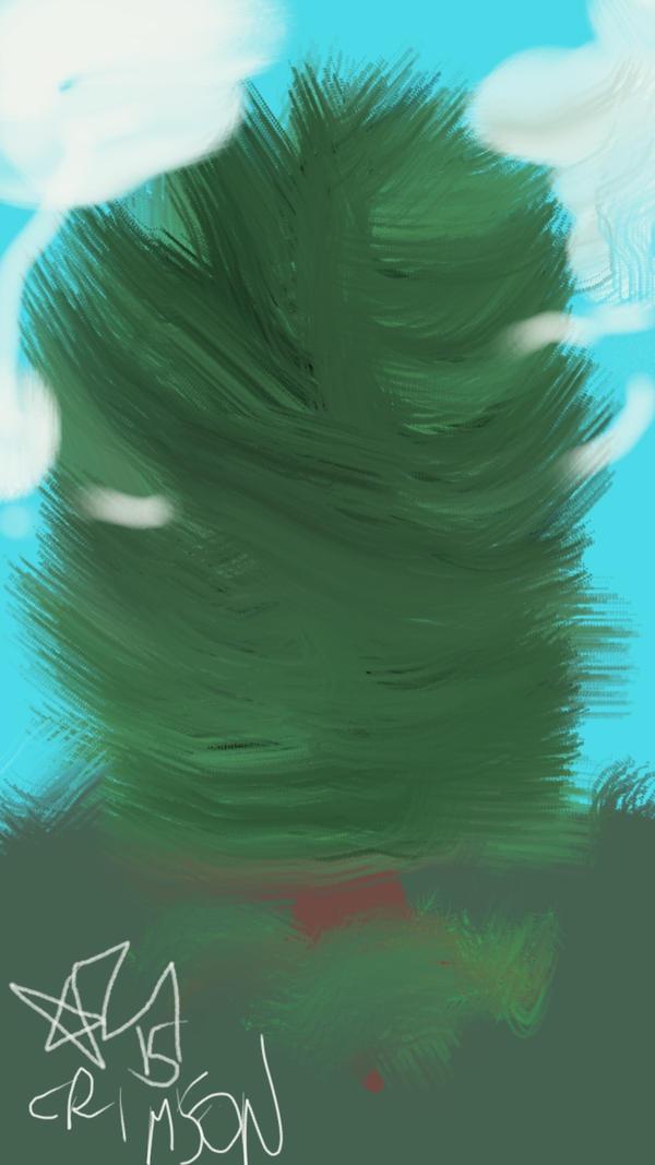 Sketch this: tree by Crimson-Werecat