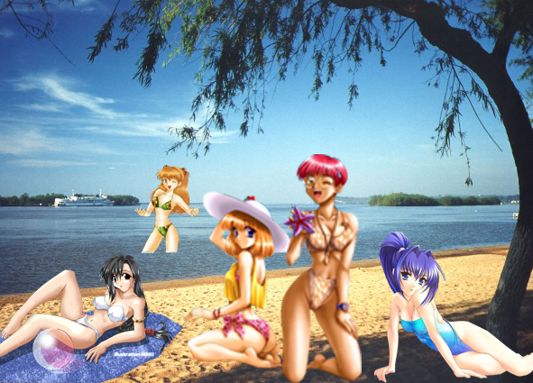Anime Beach 02 by Crimson-Werecat